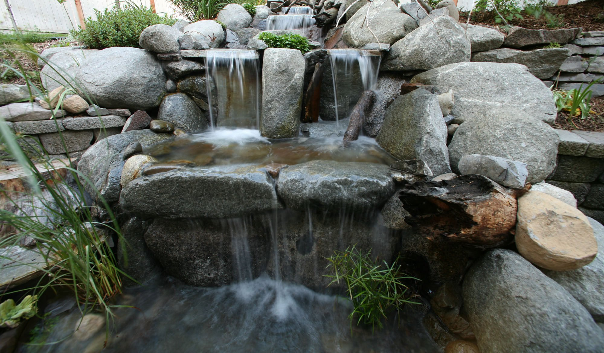 hardscape water feature - Lake Tahoe